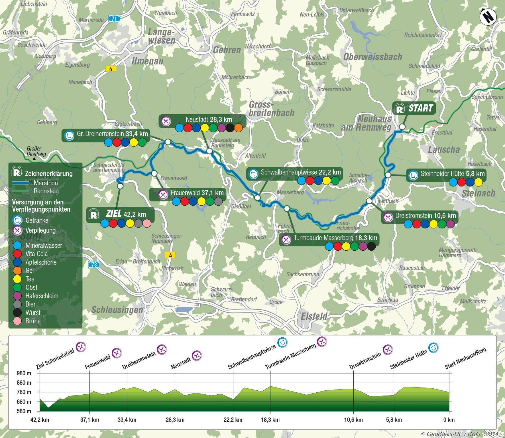 Bild: Streckenkarte Marathon