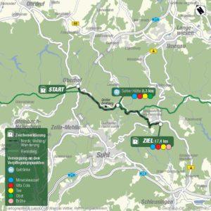 Streckenplan 17km Wanderung/Nordic-Walking Tour